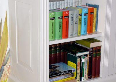 Bibliothek Sockel | © Schreinerei Carbone